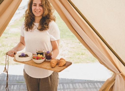 Zwier vrijhaven van de stad roos oosterbroek pindakaasstudio tent breakfast morning ritual